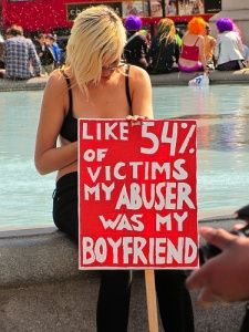 American Parser on SlutWalk    Picture Captures Sign: Like 54% of Victims, my Abuser was my Boyfriend
