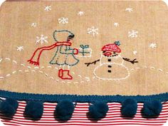 Stocking tutorial with darling embroidery pattern