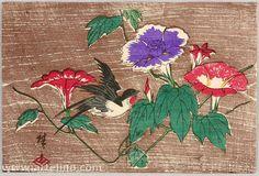 Utagawa Hiroshige III  Title:Swallow and Morning Glories Date:Ca. late 1860s.