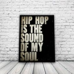 Hip Hop Poster, Music Poster, rap poster, indie poster, punk poster, bedroom poster, music, rock, punk, A3 poster, unframed: Amazon.co.uk: K...