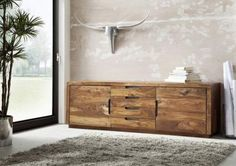 Palisander Holz massiv Sideboard Sheesham Möbel DUKE #116 - Vorschau 1