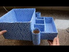 Useful Organiser from Waste Cardboard Box - Best Use of Old Carton Tissue Paper Crafts, Cardboard Crafts, Cardboard Organizer, Carton Box, Desk Organization, Tissue Boxes, Hello Everyone, Craft Supplies, Diy And Crafts