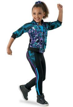 Weissman® | Sequin & Print Jacket with Leggings