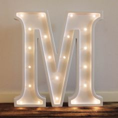 Little Letter Light Co's battery operated White Letter Lights are a unique, safe…