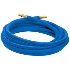 Air hose 1/4 25 Foot 3/8 Inch ID NPT PVC 300 PSI Blue Tool Compressor Garage  #CampbellHausfeld