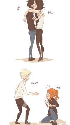 The Mortal Instruments siblings...Sebastian is creepy as hell