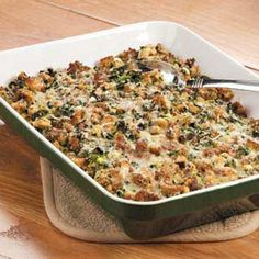Sausage Spinach Bake: not exactly healthy and very similiar to a quiche recipe I make. Tasty though.  Use less pepper jack and more mozzarella to maks it kid friendly.