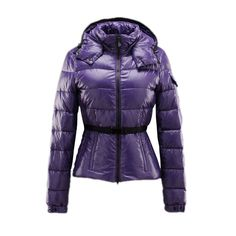 MONCLER Fashion Women Hooded Purple Down Coat