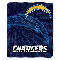 Chargers 50x60 Sherpa Throw - Strobe Series