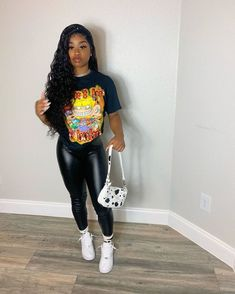Boujee Outfits, Baddie Outfits Casual, Swag Outfits For Girls, Teenage Girl Outfits, Cute Swag Outfits, Chill Outfits, Teen Fashion Outfits, Dope Outfits, Girly Outfits