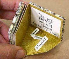 Little Book Of Rooms - Club Scrap : folded quad print mini album Mini Albums, Book Crafts, Paper Crafts, Craft Books, Homemade Books, Mini Album Tutorial, Paper Book, Book Folding, Little Books