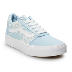 Vans Ward Girls' Flowers Skate Shoes is part of Vans shoes fashion - Refresh your skater style with these girl's Ward sneakers from Vans Comfort and durability combine for a cool laidback look Vans Shoes Fashion, Shoes Sneakers, Women's Shoes, Van Shoes, Blue Sneakers, Floral Sneakers, Louboutin Shoes, Christian Louboutin, Vans Girls