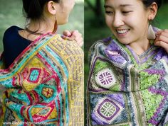 Spirits of life wrap, free crochet pattern and CAL | Happy in Red