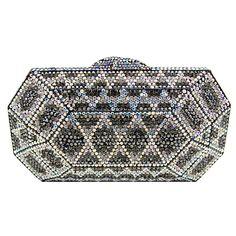 Butler & Wilson Swarovski Crystal Art Deco Style Clutch Bag Red ...