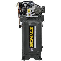 5 HP Single Phase 80 Gallon, 175 PSI, 20 CFM, Schulz Air Compressor