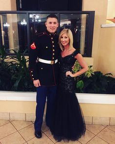 Marine corps ball black with gold dress | Marine corps ball ...