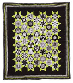 Additional Images of The New Hexagon by Katja Marek - Brenda's Gallery Quilt pinned from ConnectingThreads.com