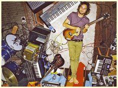 austinkleon:  Kevin Parker (Tame Impala) recording the album Lonerism