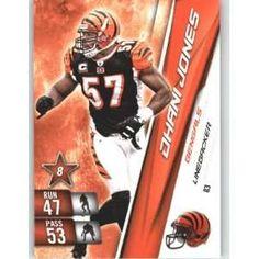 NFL+football+cards | 2010 Panini Adrenalyn XL NFL Football Trading Card # 83 Dhani Jones