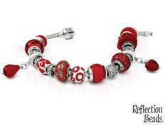 Red Hot Hot Hot Summer Themed Reflection Bead Bracelet. Available at Faini Designs Jewelry Studio in Sioux Falls, SD.