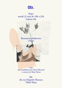 Rosemarie Auberson, poster for Paris exhibition, 2013 Graphic Design Posters, Graphic Design Typography, Graphic Design Illustration, Graphic Prints, Branding Design, Typography Fonts, Poster Designs, Poster Ideas, Web Design