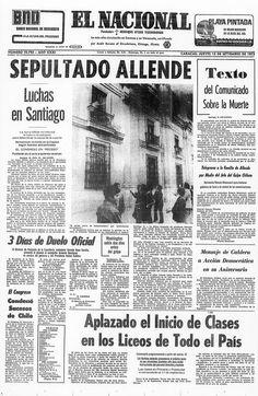 El Nacional (Venezuela) - 13 de septiembre de 1973. Sepultado Salvador Allende.