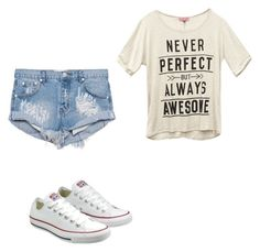 """Untitled #528"" by livvy-527 ❤ liked on Polyvore featuring Converse, Wet Seal and One Teaspoon"