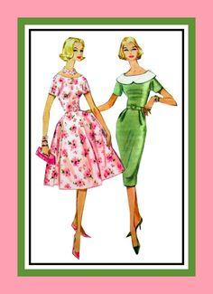 Vintage 1960 Lovely & Feminine Two by FarfallaDesignStudio on Etsy, $16.00