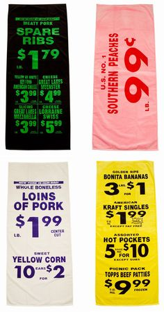Bold Type Beach Towels