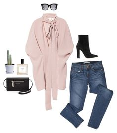"""pink"" by bareluxe ❤ liked on Polyvore featuring J Brand, Marni, Gianvito Rossi, Eight & Bob, Marc Jacobs, HAY and CÉLINE"