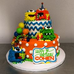 Little Monster First Birthday Party Cake by Stephanie Dillon, LS1 Hy-Vee