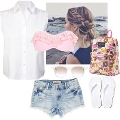 Untitled #139 by sikarjazmin on Polyvore featuring polyvore fashion style T By Alexander Wang River Island American Eagle Outfitters JanSport Chris Benz