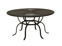Tropitone Cast Kd Spectrum Aluminum 66 Round Metal Dining Table with Umbrella Hole 800161: LuxePatio.com