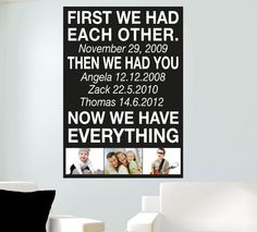 Gift Ideas for Dad - First We Had Each Other Wall Sticker Quote - Totally Movable, $15.99 (http://www.smartwalling.com.au/first-we-had-each-other-wall-sticker-quote-totally-movable)