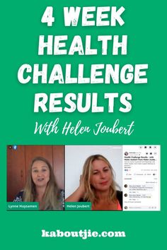 4 Week Health Challenge Results with Helen Joubert