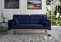Navy Blue Velvet Sofa, Navy Sofa, Velvet Sleeper Sofa, Navy Living Rooms, Cheap Couch, Types Of Sofas, Bedroom Sofa, Master Bedroom, Mid Century Sofa