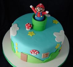 Wish i would've delved into fondant a little earlier. This is way cuter than the edible image grocery store Mario cake I got for my son's bday, and not hard at all!