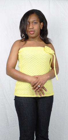 https://flic.kr/p/C447UA   anino yellow camisole hand crossed in front   Join me on Anino TV (youtube) to Machine knit this camisole in tuck stitch on the LK150 knitting machine. Patterns will be on aninoogunjobi.com  Youtube: youtu.be/Wd01ikzF2dY
