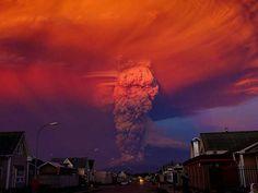 La erupción del volcán Calbuco