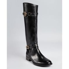 Tory Burch Riding Boots - Calista ($347) ❤ liked on Polyvore
