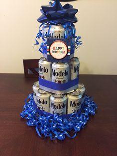 Modelo birthday beer cake