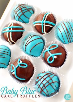 Baby Blue Cake Truffles by Tidy Mom:  Recipes and techniques.   It would be pretty cool to be able to bake and decorate like this.