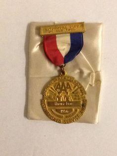 Vintage 1956 School Safety Patrol AAA Distinguished Service Award Medal NY