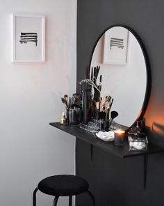 Dressing Table For Small Space, Small Dressing Rooms, Dressing Room Decor, Dressing Room Design, Dressing Table Mirror, Aesthetic Room Decor, Woman Bedroom, Bedroom Decor, Budget Bedroom