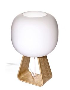 Toad is a table lamp that provides light into all directions. The blown opal glass cover bulb provides a beautiful soft light all around. The lamp's beautiful support of oak is a fine example of th… Interior Design Elements, Beautiful Interior Design, Lamp Light, Light Up, Scandinavian Lighting, Oak Plywood, Lamp Socket, Oak Table, Glass Diffuser