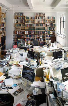 Creativity or Organized Chaos? Messy Desk, Messy Room, Workspace Design, Home Office Design, Office Art, Horror Vacui, Writers Desk, Art Corner, Study Inspiration