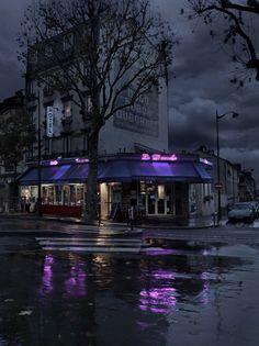 Blaise Arnold - Red Lights, Paris at night