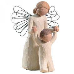"""Statuette """"Ange gardien"""" (résine) : Willow Tree - Statuette - Berceau Magique"""