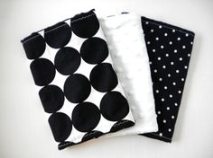 Boutique style burp cloths with minky fabric.