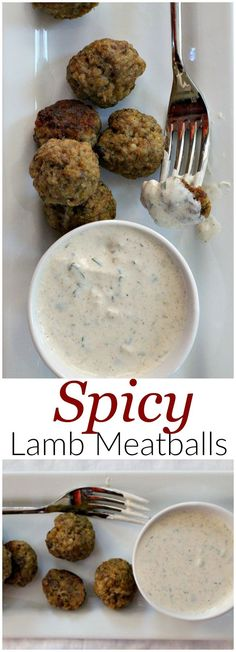Great appetizer recipe for your next wine tasting party. Or an easy weeknight dinner idea. Spicy lamb meatballs are a crowd pleaser.  via /lannisam/
